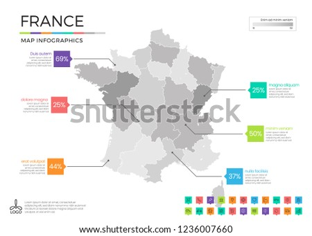 Map Of France Zones.Colorful France Maps With Regoins Download Free Vector Art Stock