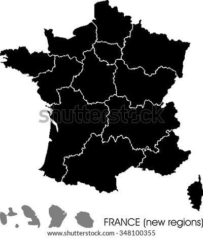 france map  new regions