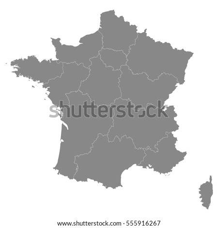 france map with borders of the