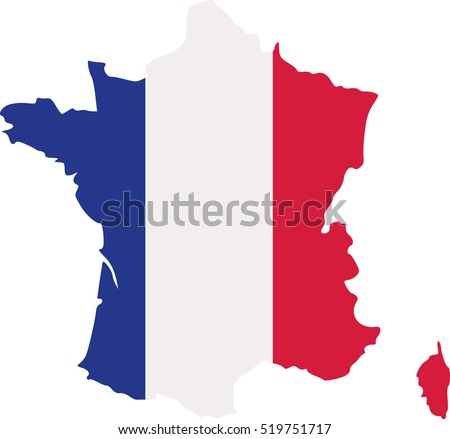 france map with flag