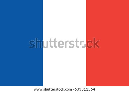 France National Flag. Vector.