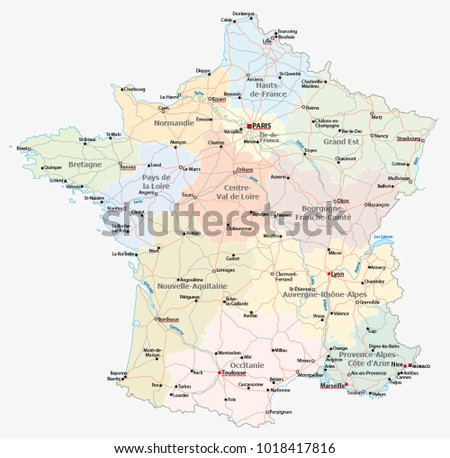 Map Of Lyon City Download Free Vector Art Stock Graphics Images