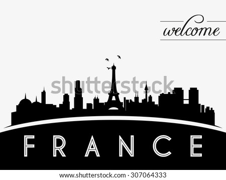 france skyline silhouette