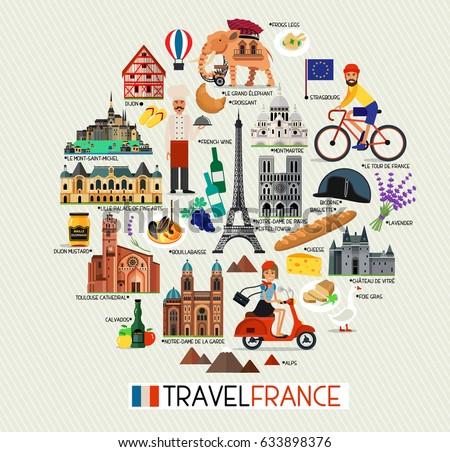 france travel icons france