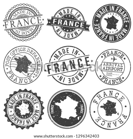France Travel Stamp Made In Product Stamp Logo Icon Symbol Design Insignia.