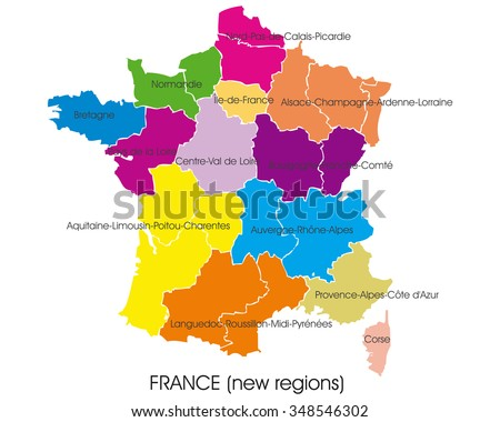 france vector map  new regions