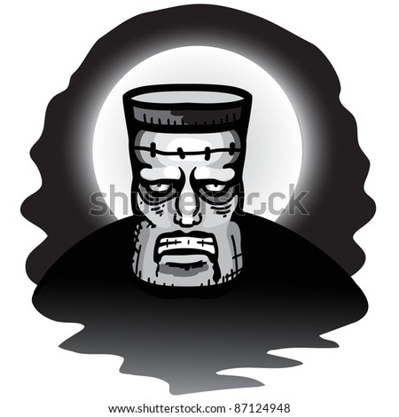 Frankenstein monster - stock vector