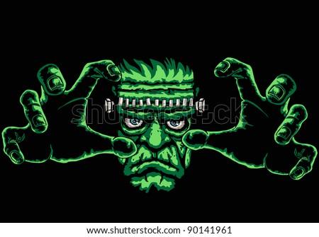 frankenstein monster  black