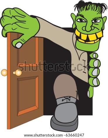 Frankenstein's monster come in through door