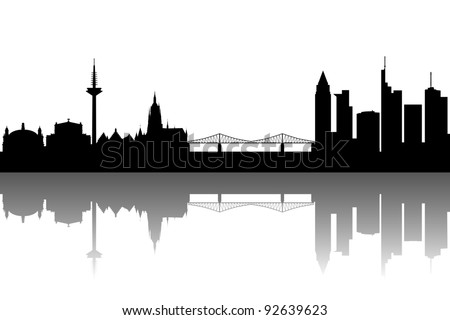 Frankfurt silhouette abstract