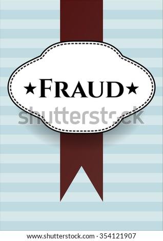 Fraud card with nice design