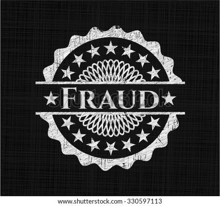 Fraud chalk emblem
