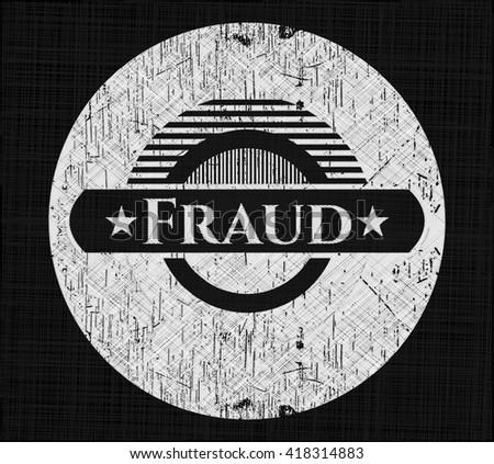 Fraud chalkboard emblem