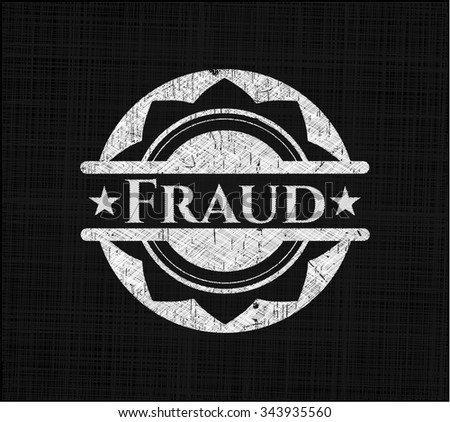 Fraud chalkboard emblem written on a blackboard