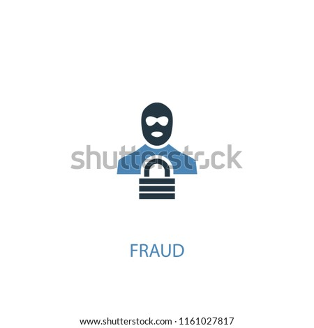 fraud concept 2 colored icon