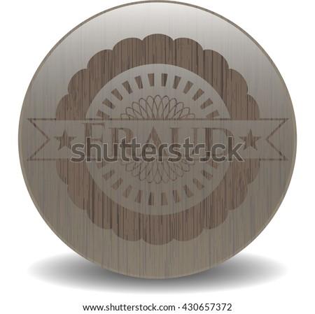 Fraud retro wood emblem