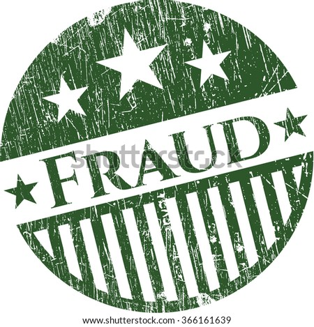 Fraud rubber stamp with grunge texture