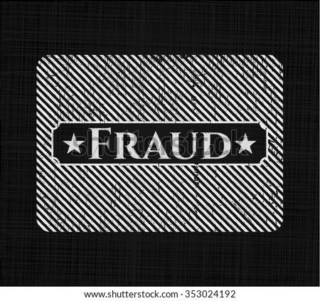 Fraud written on a chalkboard