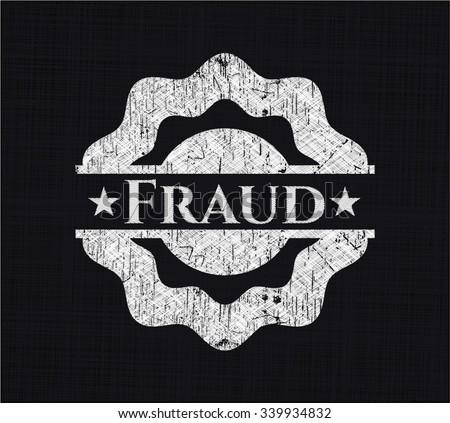 Fraud written with chalkboard texture