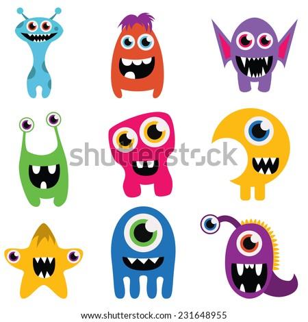 freaky happy monsters set