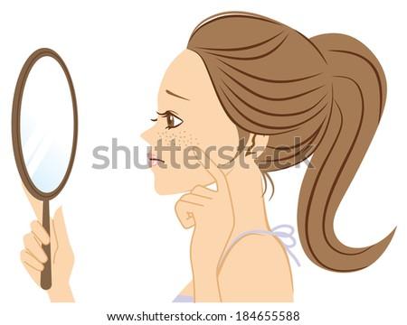 freckle woman