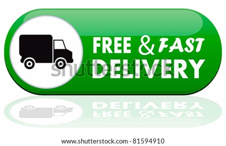 Free and fast delivery banner