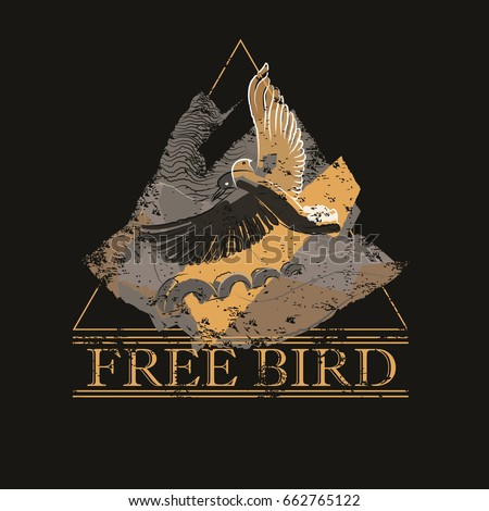 free bird with two heads of
