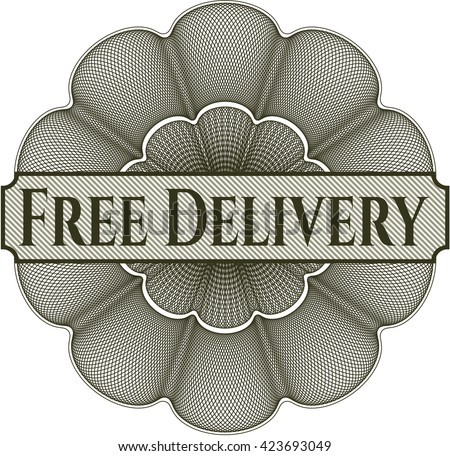 Free Delivery abstract linear rosette