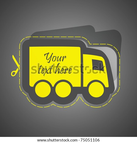 Free delivery element for sale. Vector illustration (eps10).