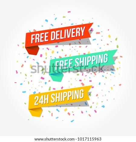 Free Delivery, Free Shipping & 24 Hours Shipping Tags