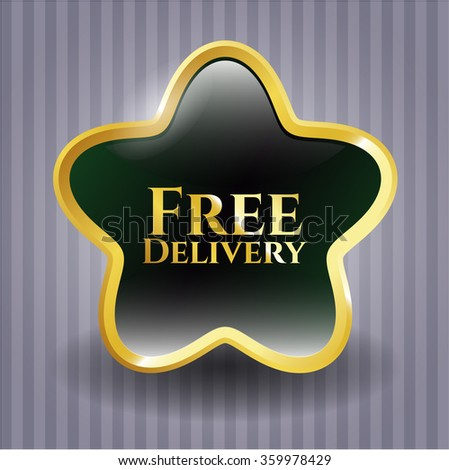 Free Delivery golden badge