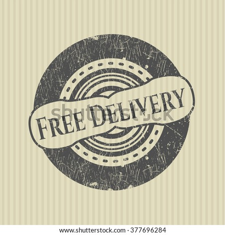 Free Delivery grunge seal