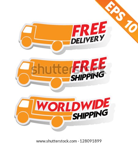 Free delivery logistic advertising transportation Vector illustration EPS10
