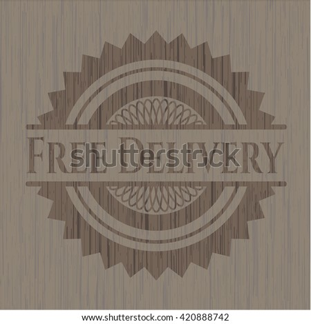 Free Delivery realistic wooden emblem