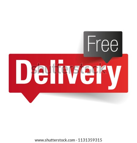 Free Delivery sign label tag