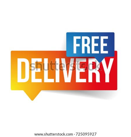 Free Delivery sign speech bubble vector
