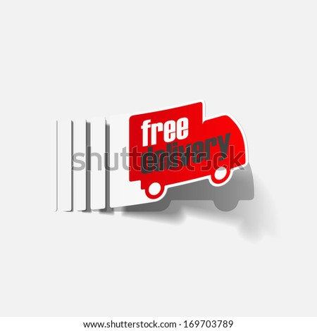 free delivery truck sticker