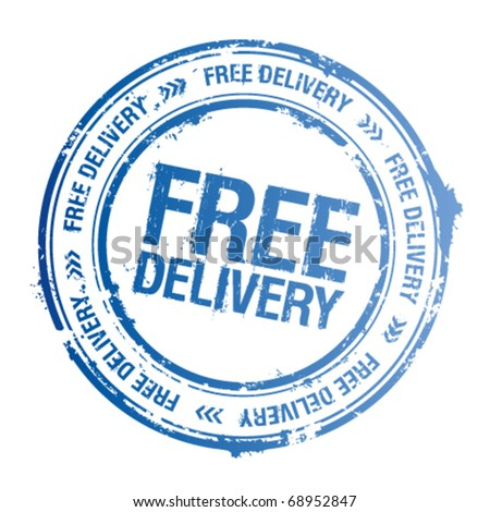 Free delivery vector stamp.