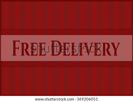 Free Delivery vintage style card or poster