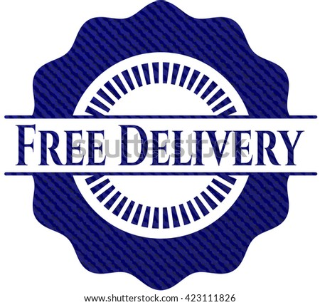 Free Delivery with jean texture