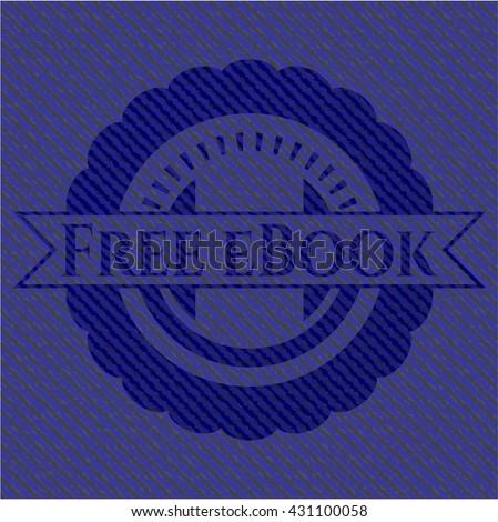 Free eBook emblem with denim high quality background