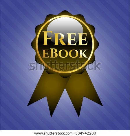 Free eBook golden emblem or badge