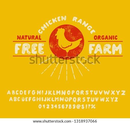 bbf9ba19bf5 Free Farm. Earth day. Handmade font. Hand made logo. Organic and naturel