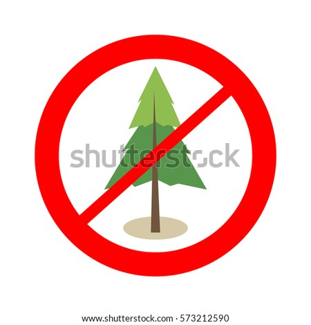 free from tree area sign no