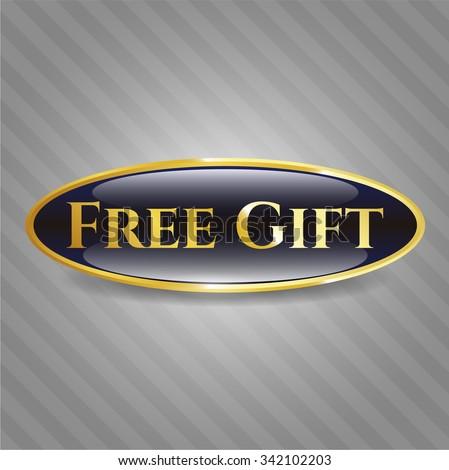 Free Gift gold shiny badge