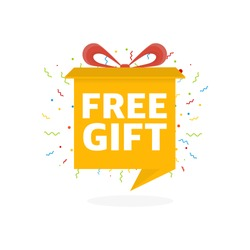 Free Gift Sign and Tag. Box banner.