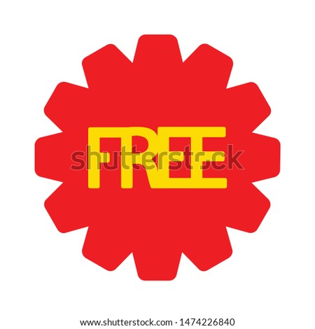 free icon. flat illustration of free vector icon. free sign symbol