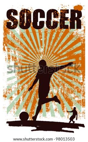 free kick soccer poster