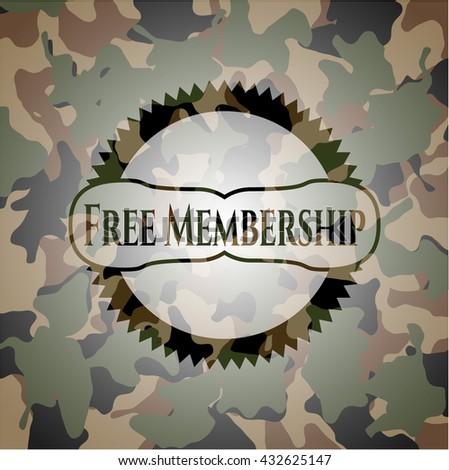 Free Membership on camo pattern