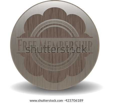 Free Membership retro style wood emblem